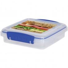 Sistema 1645. Contenedor sándwich de 450 ml de capacidad. Producto libre de BPA, libre de plomo y además fabricado con polipropileno virgen.