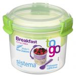 Sistema 21355VE. Contenedor para yogurt y cereales 530ml (Verde)