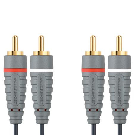 Bandridge BAL-4202. Cable de Audio Stereo de 2 metros de longitud. Cables dedicados a las áreas de audio, video y computación.