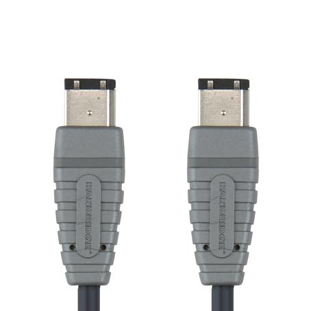 Bandridge BCL-6002. Cable Firewire 6-pin de 2 metros de longitud. Cables dedicados a las áreas de audio, video y computación.