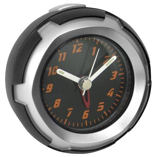 Bell Auto Parts 37025-8. Reloj Redondo con Alarma. Incluye cinta tipo abrojo para montaje opcional.Se auto sostiene para uso portable.