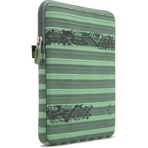 """Case Logic ENST-201VE funda tablet 10"""" rayada verde."""