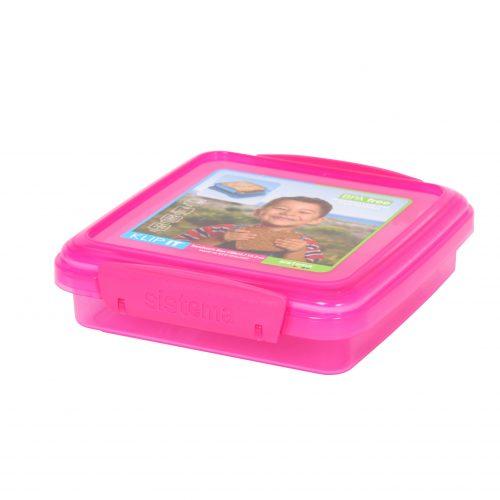Sistema 1646MA. Contenedor para sándwich de 200 ml de capacidad. Producto libre de BPA, libre de plomo, libre de Ftalatos y de color magenta.