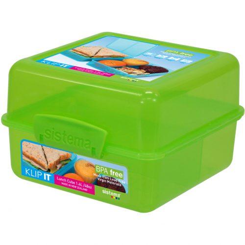 Sistema 1735VE. Contenedor para Almuerzo de 1.4 litros de capacidad. Producto libre de BPA, libre de plomo y de color verde.