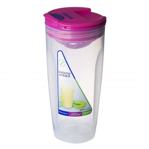 Sistema 21378MA. Contenedor para batidos de 700 ml de capacidad. Producto libre de BPA, libre de plomo, libre de Ftalatos y de color magenta.