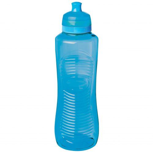 Sistema 850AZ. Botella de agua de 800 ml de capacidad. Producto libre de BPA, libre de plomo, libre de Ftalatos y de color azul.
