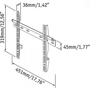 Mount Massive MSM-35. El soporte con brazo permite montar su televisor directamente al muro ahorrando espacio en el resto de tu habitación.