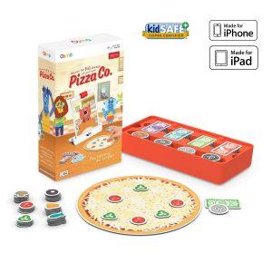 OSMO Pizza Co. Juego tecnológico este enseña a los niños el manejo económico básico de una pizzería, cocinar, atender público y uso de dinero e inversión.