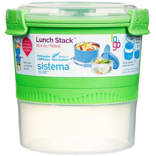Sistema 21360VE. Capsula para Almuerzo. Espacio amplio para papas, curries o cereales. Espacio para yogurt, ensaladas o snacks. Hay múltiples posibilidades.