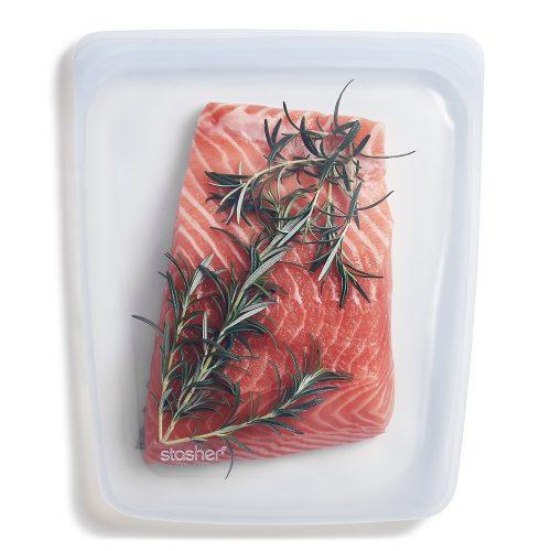 Stasher salmón 1.9 lts transparente