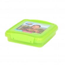 Sistema 1646VE. Contenedor para sándwich de 450 ml de capacidad. Producto libre de BPA, libre de plomo, libre de Ftalato y color verde.