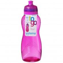 Sistema 600MA. Botella de agua de 600 ml de capacidad. Producto libre de BPA, libre de plomo, libre de Ftalatos y de color magenta.