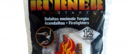 Video detalle de Burner ES-1232. Bolsa de 12 unidades de enciende fuego.