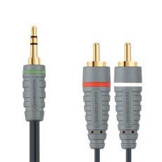 Bandridge BAL-3401. Cable de Audio Portable de un metro de longitud. Cables dedicados a las áreas de audio, video y computación.