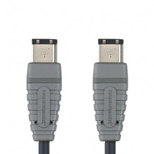 Bandridge BCL-6002. Cable Firewire 6-pin de 2 metros de longitud. Cables dedicados a las áreas de audio, video y computación.