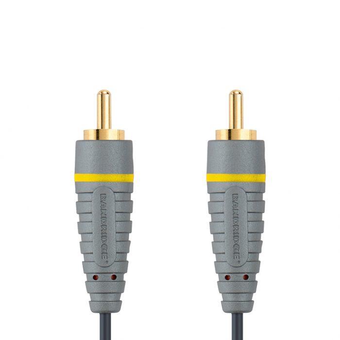 Bandridge BVL-5001. Cable de Video Compuesto 1 metro de largo. Cables dedicados a las áreas de audio, video y computación.