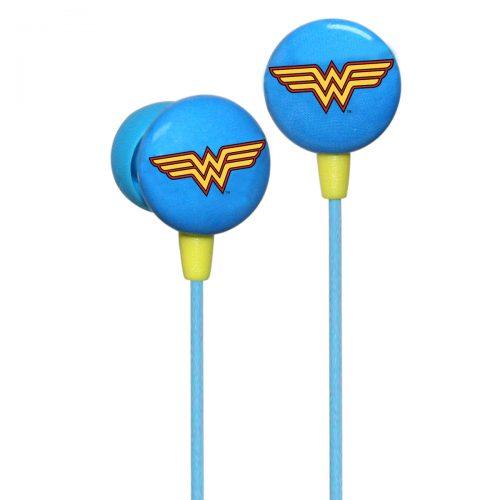 iHip Mujer Maravilla. Audífonos modelo DCF10163W . Se acomodan fácilmente en la oreja y poseen excelente reducción de ruido.