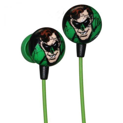 iHip Linterna Verde Cómic. Audífonos Modelo DCF1030GL. Aíslan el ruido y brindan sonido de calidad. Rango de Frecuencia 20Hz - 20kHz