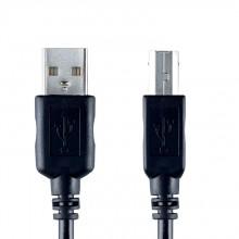 Bandridge VCL-4102. Cable USB de 2 metros de largo. Conecta dispositivos con salida USB A como PC y notebooks a con entradas USB B, ej. impresoras.