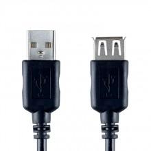 Bandridge VCL-4302. Cable extensión USB de 2 metros de largo. Cables dedicados a las áreas de audio, video y computación.