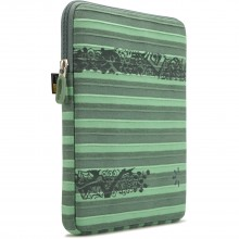 "Case Logic ENST-201VE funda tablet 10"" rayada verde."