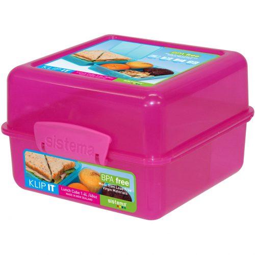 Sistema 1735MA. Contenedor para almuerzo de 1.4 litros de capacidad. Producto libre de BPA, libre de plomo y de color magenta.