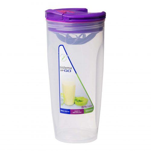 Sistema 21378MO. Contenedor para batidos de 700 ml de capacidad. Producto libre de BPA, libre de plomo, libre de Ftalatos y de color morado.