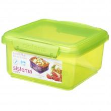 Sistema 1651VE. Contenedor de 1.2 litros de capacidad. Producto libre de BPA, libre de plomo y además fabricado con polipropileno virgen. verde.