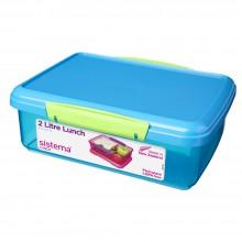 Sistema 31712AZ. Contenedor de 2 litros de capacidad. Producto libre de BPA, libre de plomo y además fabricado con polipropileno virgen.Azul.