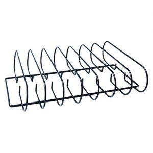 Man-Law MAN-V9. Rack costillar/ Asado de Tira para cocinar 7 cortes a las vez. Diseño que deja bastante espacio para agregar otros cortes a la parrilla.