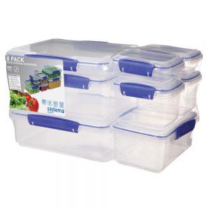 Sistema 1888. Pack Sistema de 8 contenedores. Todos los productos son fabricados libres de plomo, libres de BPA, también libres de Ftalatos.