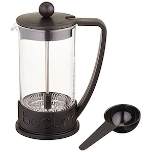 Bodum Brazil negra. Cafetera prensa francesa, modelo Brazil de 350 ml o para 3 tazas, y fabricado en Portugal. Modelo 10948-01BUS. Disfruta mejor café.