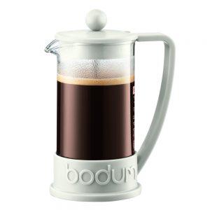 Bodum Brazil blanca. Cafetera prensa francesa, modelo Brazil de 350 ml o para 3 tazas, y fabricado en Portugal. Modelo 10948-913BUS. Disfruta mejor café.