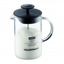 BODUM LATTEO. Espumero de vidrio de borosilicato con tapa plástica libre de BPA, capacidad 250 ml, modelo 1446-01US. Prepara ahora tus propios capuchinos!