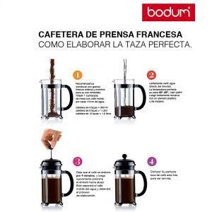 Bodum proceso cafetera de prensa de francesa 4 minutos.