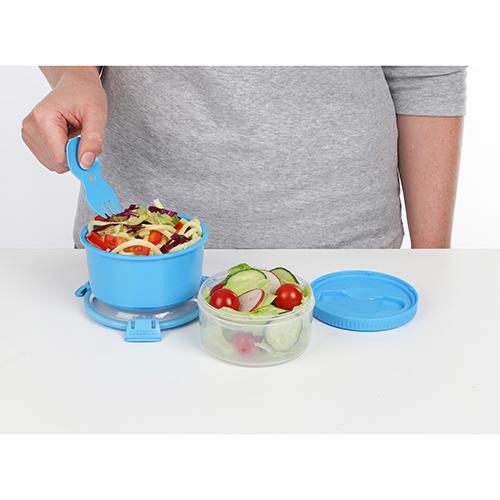 Sistema 21360AZ. Capsula para Almuerzo. Espacio amplio para papas, curries o cereales. Espacio para yogurt, ensaladas o snacks. Hay múltiples posibilidades.