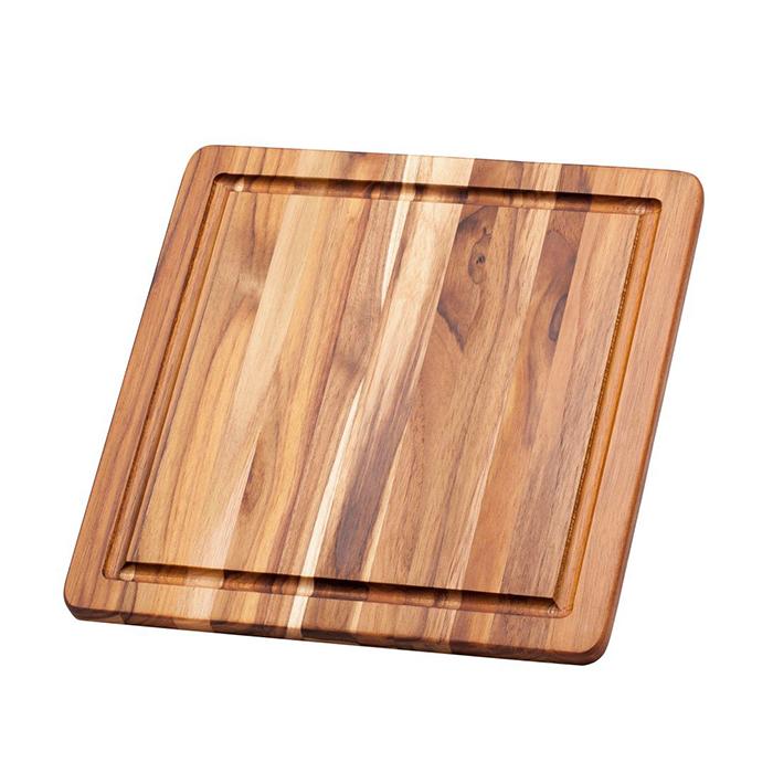 407_Essential tabla de madera de teca, para corte de carnes.