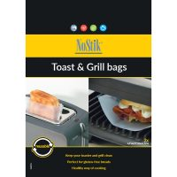Nostik set de 2 bolsas de teflón para cocinar y usar en sartenes tostadores y grillas.